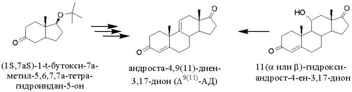 Способ получения андроста-4,9(11)-диен-3,17-диона из фитостерина
