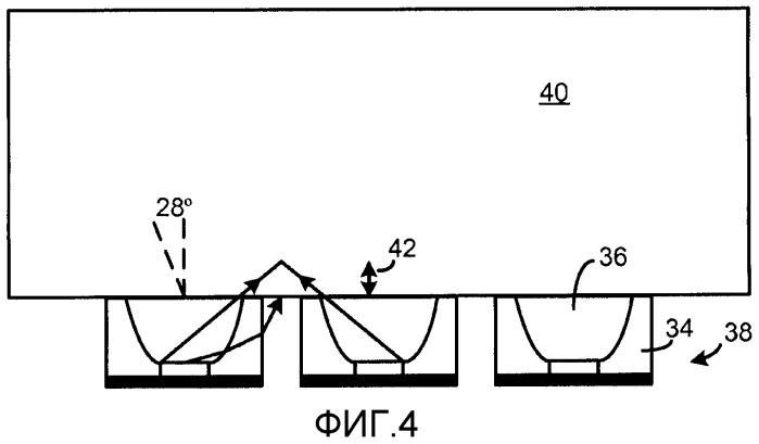 Светодиод с прессованной двунаправленной оптикой