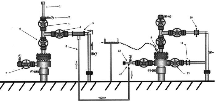 Комплексный способ вытеснения нефти из пласта водогазовым воздействием с применением устьевых эжекторов