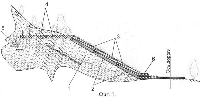 Способ возведения противооползневого сооружения комбинированной конструкции