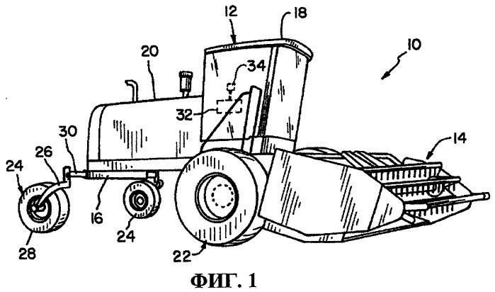 Сельскохозяйственная уборочная машина с выгрузкой ускоренным полотенным транспортером