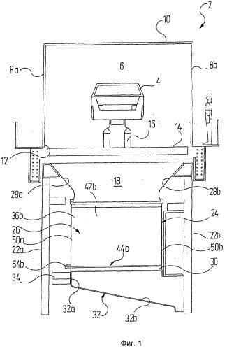 Устройство для сепарации избыточного распыления лака