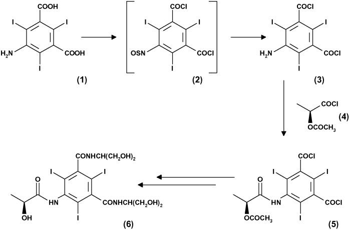 Способ получения трийодированных карбоксильных ароматических производных