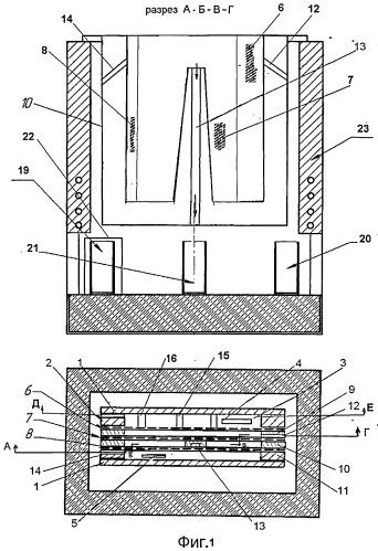 Электролизер для разделения легкоплавких сплавов электролизом в расплаве солей на селективные концентраты