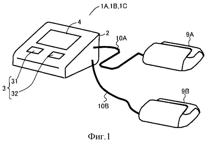 Устройство для измерения информации артериального давления, предназначенное для измерения скорости распространения пульсовой волны в качестве информации артериального давления
