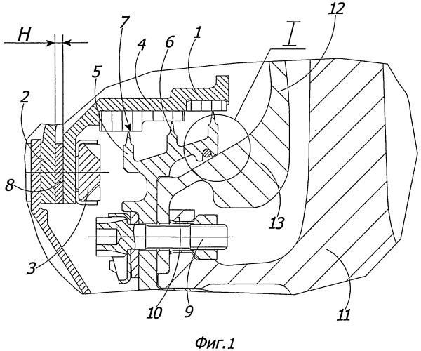 Лабиринтное уплотнение турбомашины