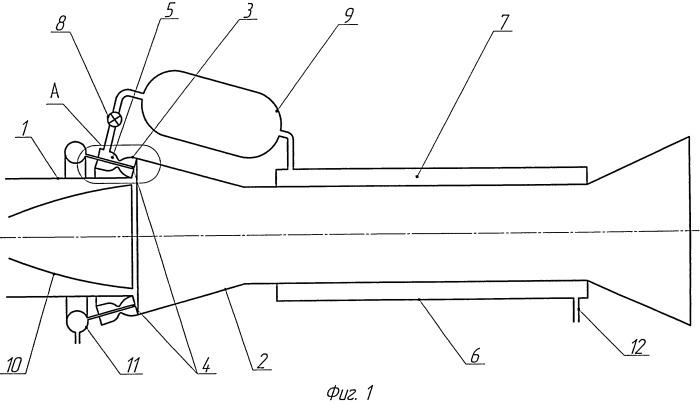 Стенд для высотных испытаний ракетных двигателей с тонкостенными соплами