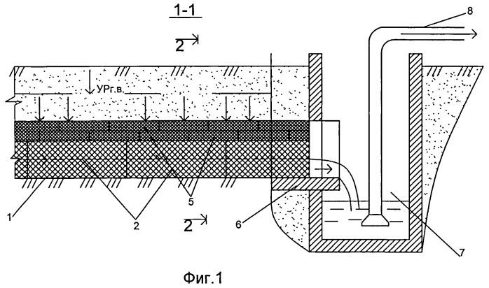 Подземный горизонтальный водозабор комбинированной конструкции