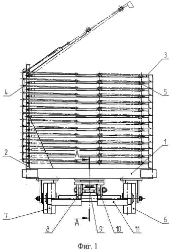 Тележка-книжка для перевозки и хранения штучных грузов