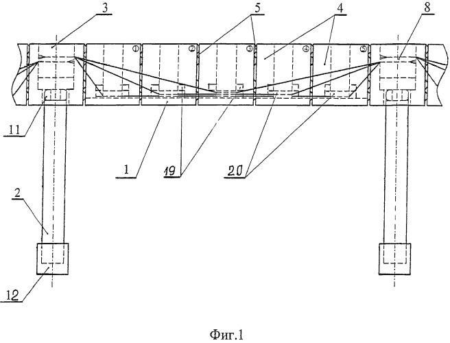 Способ строительства и конструкция эстакад и мостовых переходов в условиях вечной мерзлоты
