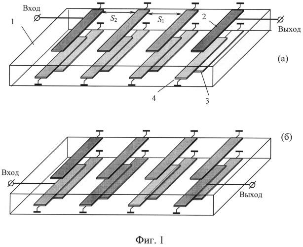 Полосковый фильтр с широкой полосой заграждения