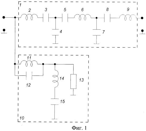 Полосовой lc-фильтр с постоянным входным сопротивлением в полосах задерживания