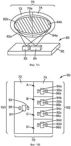 Фильтрующая система, включающая структурированные оптические датчики аналитов и оптические считывающие устройства