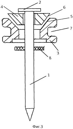 Комбинированная шайба для гвоздя