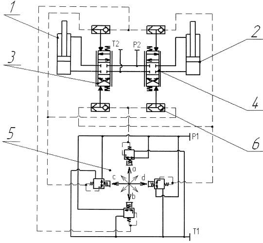 Механизм коррекции мачты копра