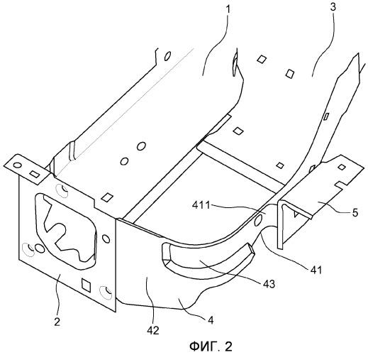 Устройство для прикрепления переднего крыла кузова автомобиля