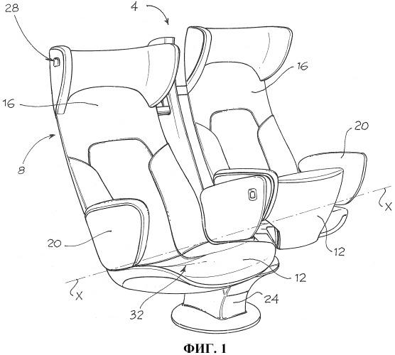 Сиденье, система управления и контролирования сидений, способ управления и контролирования сидений