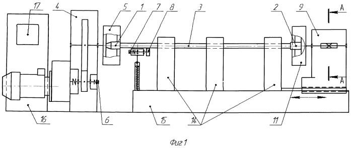 Станок для довертывания элементов замков на концах трубы