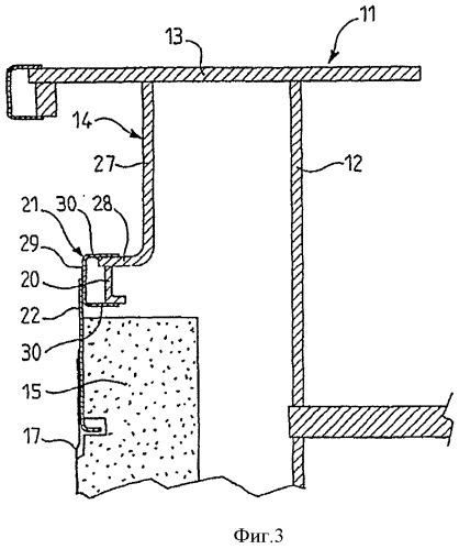 Контактная область вспомогательной мембраны резервуара для спг