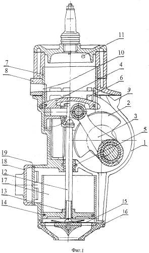 Двухтактный двигатель внутреннего сгорания с наддувом