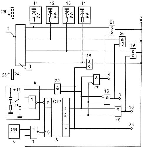 Адаптивный датчик идентификации и контроля положения четырех видов изделий
