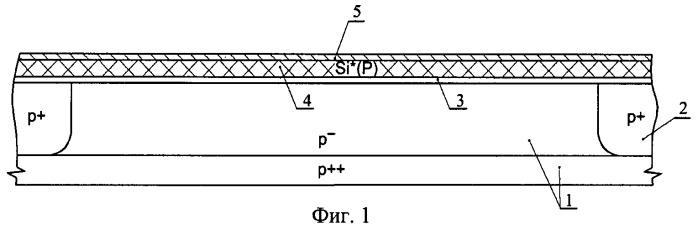 Способ изготовления транзисторной свч ldmos структуры