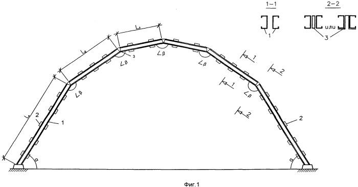 Полигональная рамно-арочная конструкция