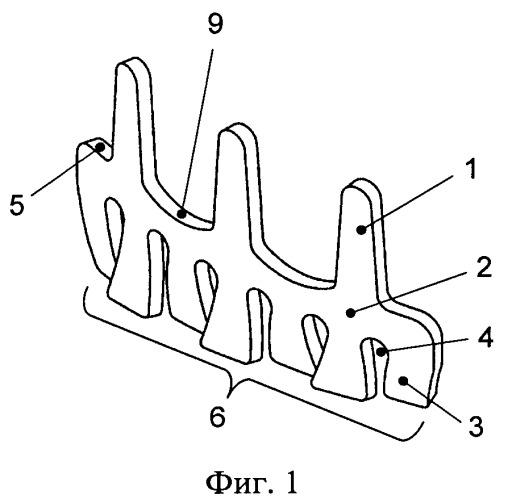 Дентальный листовидный гребешковый имплантат