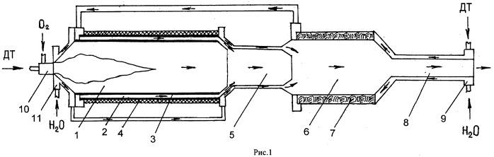 Способ конверсии дизельного топлива и конвертор для его осуществления