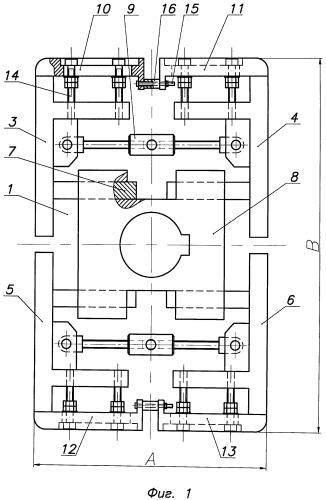 Устройство для формирования замкнутого контура ленточного магнитопровода распределительного трансформатора из блоков пакетов многослойных аморфных металлических лент