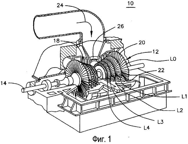 Рабочая лопатка паровой турбины для секции низкого давления паровой турбины