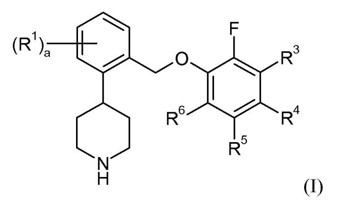 4-[2-(2-фторфеноксиметил)фенил]пиперидиновые соединения