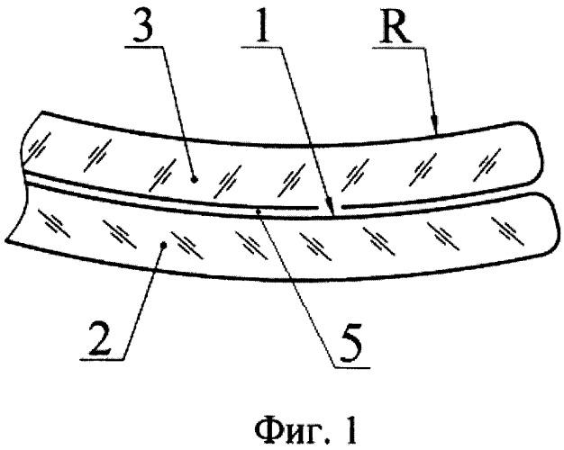 Способ получения гнутого электрообогревного слоистого стеклоизделия