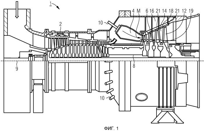 Газовая турбина с уплотнительными пластинами на турбинном диске