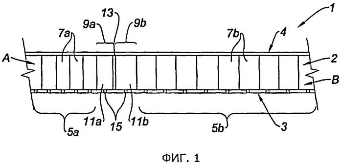 Способ изготовления структуры с ячеистыми сердцевинами для гондолы турбореактивного двигателя