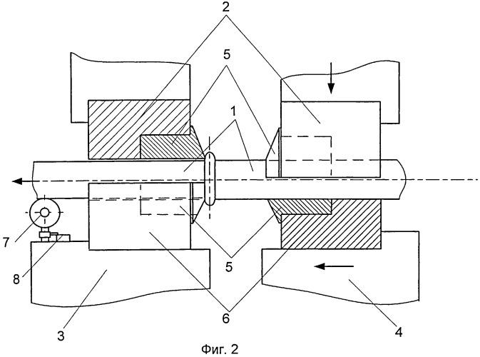 Способ удаления грата после контактной стыковой сварки оплавлением изделий круглого сечения