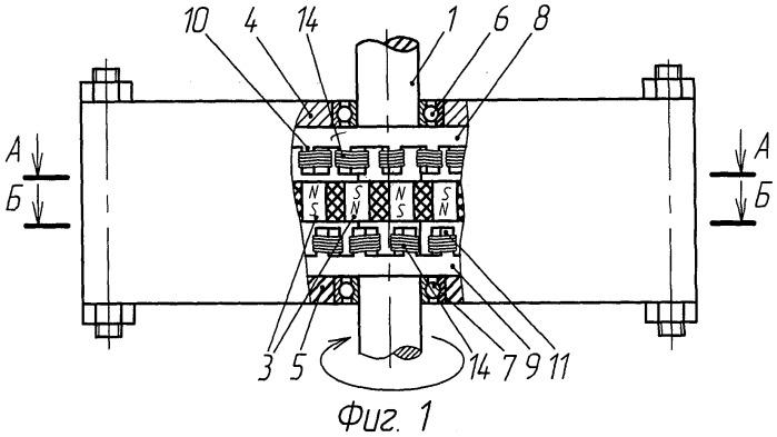 Магнитоэлектрический двигатель