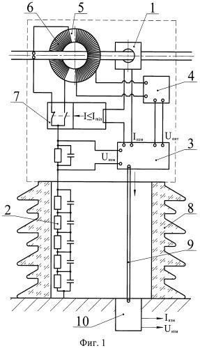 Устройство для измерения тока и напряжения в высоковольтной сети