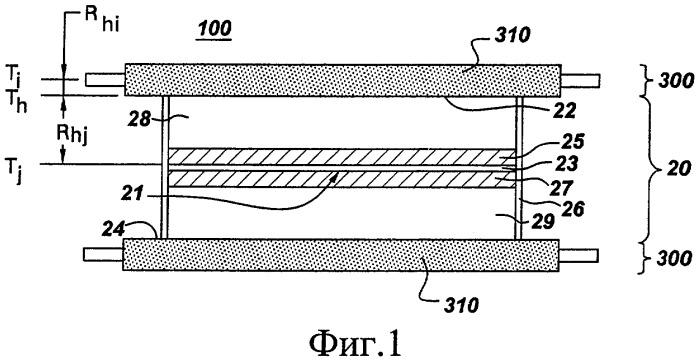 Теплоотвод и блок для плоских корпусов, обеспечивающий охлаждение и компоновку