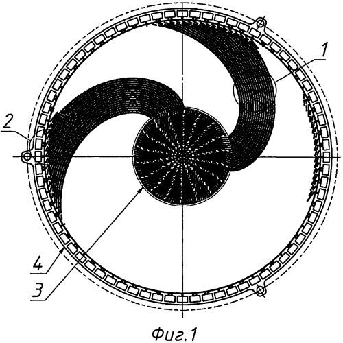 Биполярная пластина топливного элемента круглой формы