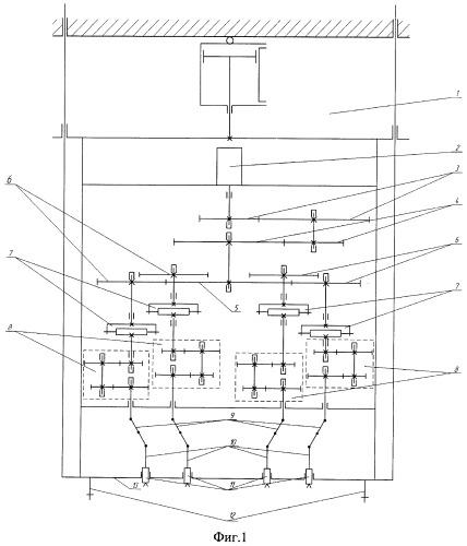 Многошпиндельный гайковерт для завинчивания шпилек с угловым рассогласованием осей