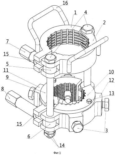 Устройство для разделения и фиксации керна при разборке керноотборного снаряда