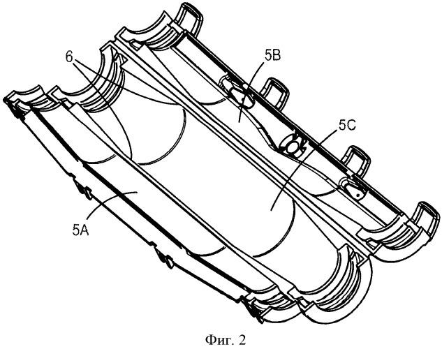 Разделитель проводов, пригодный для использования в защитном кожухе для кабельного соединения сращивания