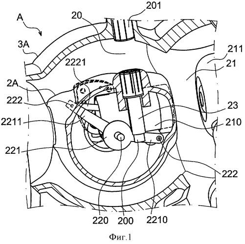 Электрическое устройство переключения, содержащее два прерывателя, таких как шинный разъединитель и заземляющий разъединитель, и содержащее общее исполнительное устройство для подвижных контактов прерывателей