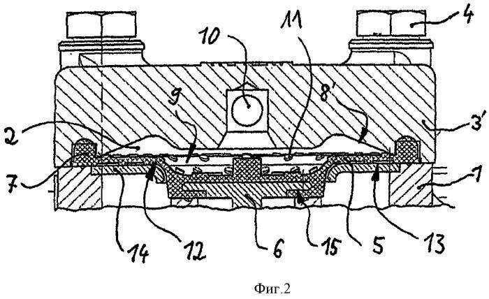 Мембранный клапан, в частности, для противоблокировочного устройства или для предохранителя от скольжения