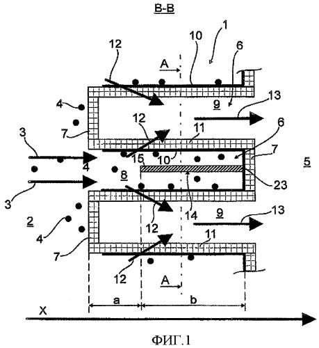Сепаратор частиц, в частности, фильтр твердых частиц, для отделения частиц из потока отработавших газов двигателя внутреннего сгорания