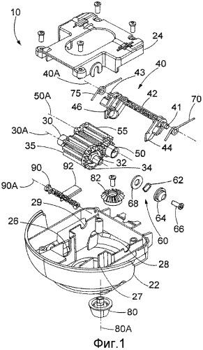Распределитель непрерывного подаваемого материала с корректируемым тормозом