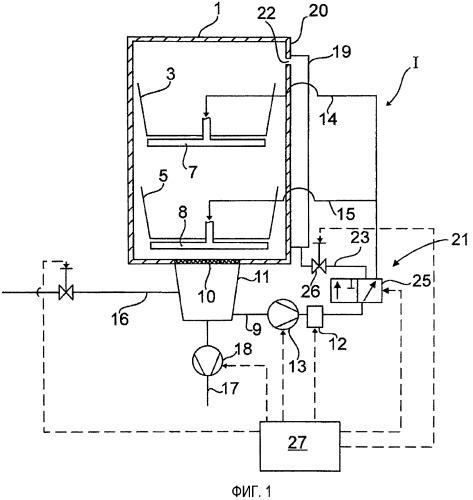 Водопроводящий бытовой пробор, в частности посудомоечная или стиральная машина