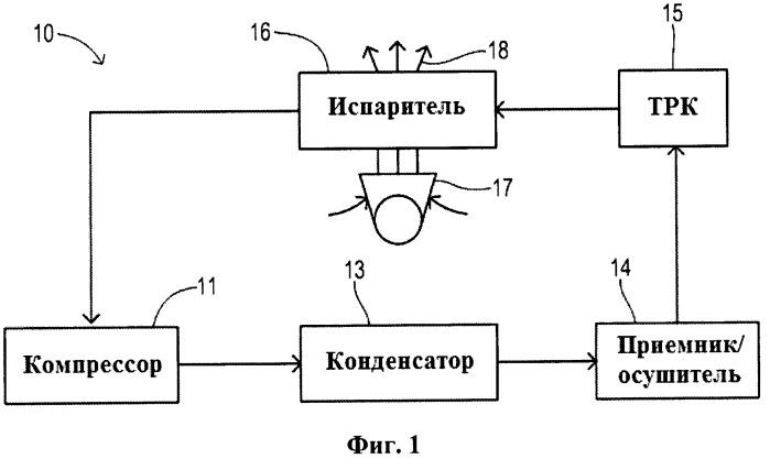 Система кондиционирования с одним расширительным клапаном