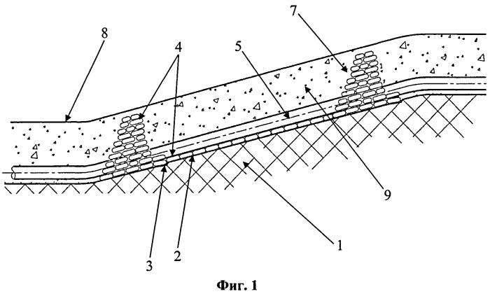 Способ прокладки трубопровода в скальных и полускальных грунтах на продольном уклоне
